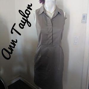ANN TAYLOR BUTTON UP DRESS SIZE 2